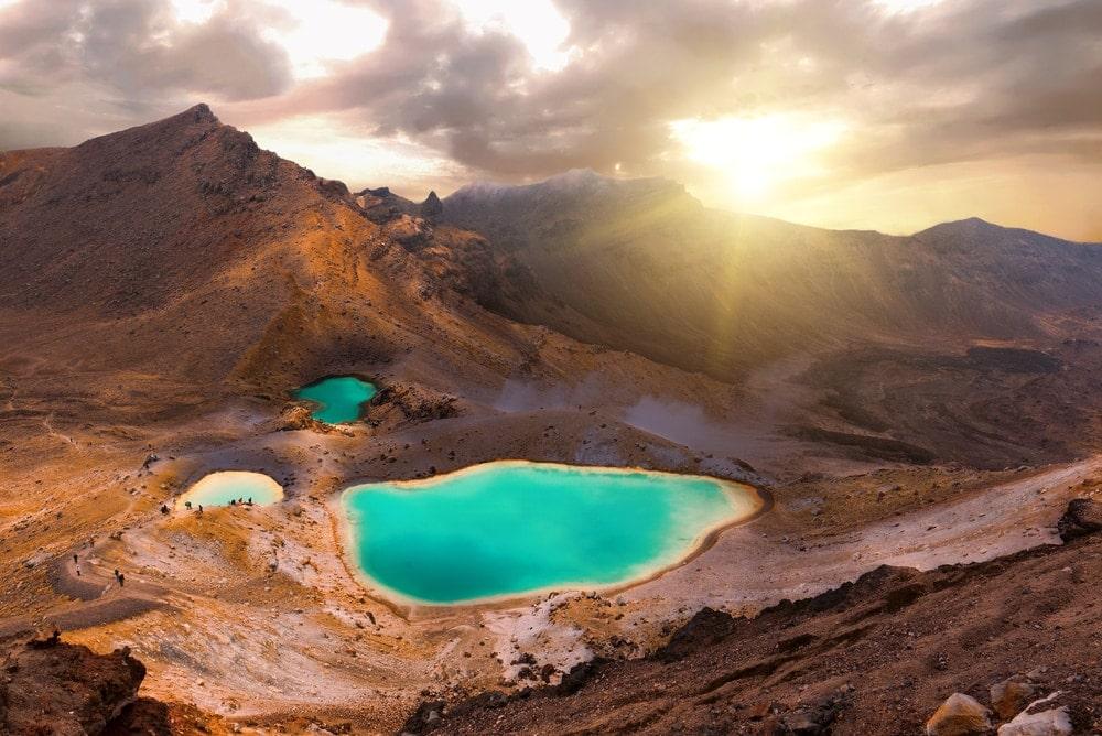 Fast wie auf dem Mond: Emerald-See im Tongariro Nationalpark