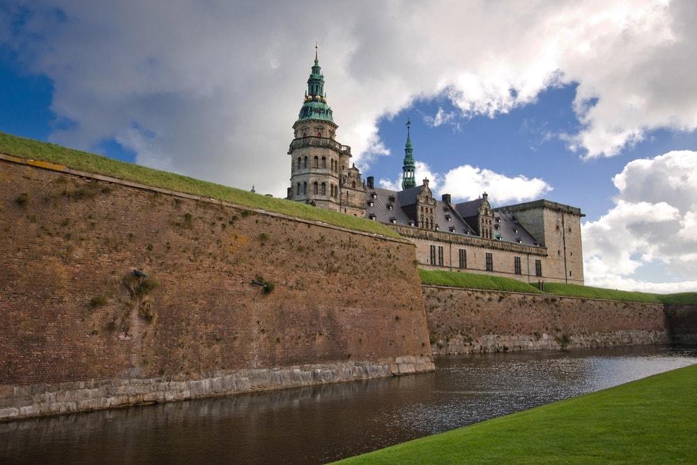 Blick auf Schloss Kronburg in Dänemark