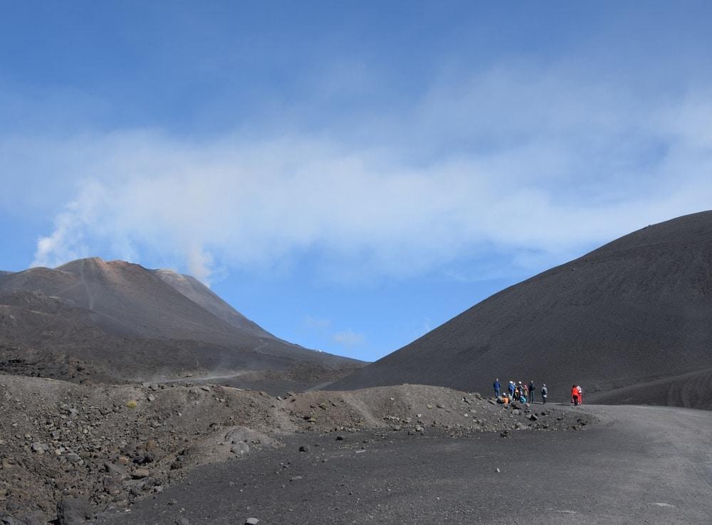 Wandern zum Ätna-Vulkan auf Sizilien