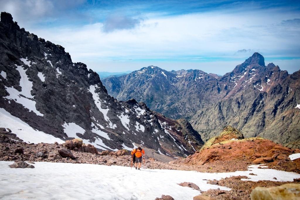 Wanderer auf dem Monte Cinto auf Korsika