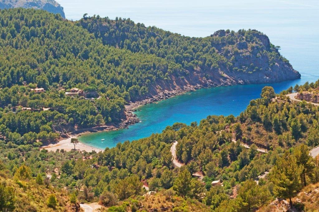 Strand Cala Tuent auf Mallorca