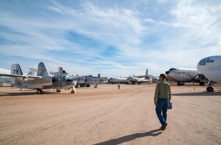 Flugzeugfriedhof in Tucson, Arizona