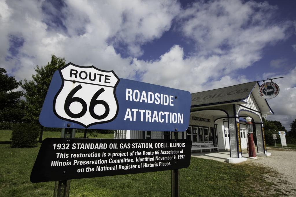 Route 66 in Illinois: Odell-Tankstelle