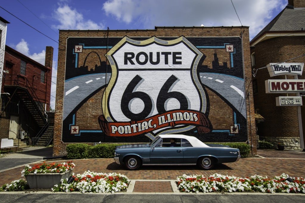 Route 66 in Illinois: Stopp in Pontiac