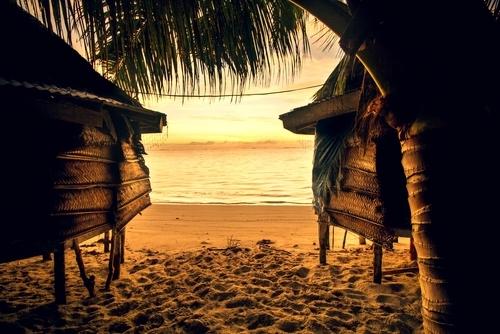 Sonnenuntergang auf Samoa