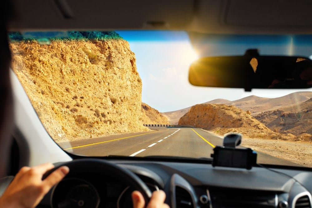 Autofahrt zum Toten Meer