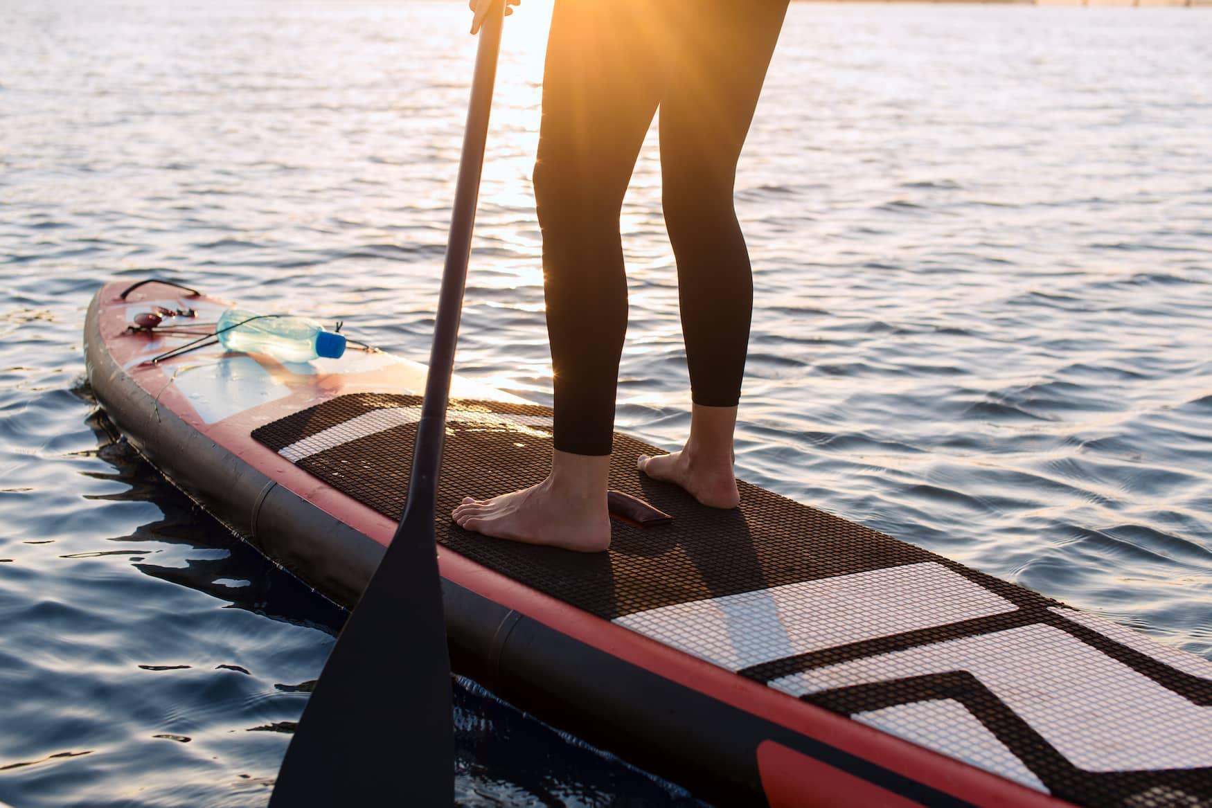 Stand Up Paddler auf der Nordsee
