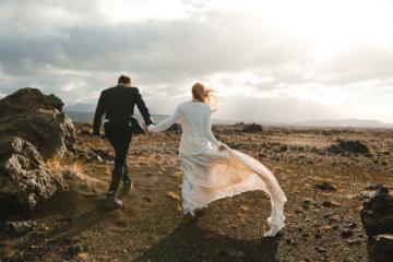 Hochzeit in Island: Paar