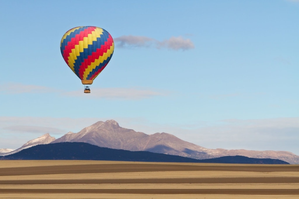 Ballon im Rocky Mountains Colorado