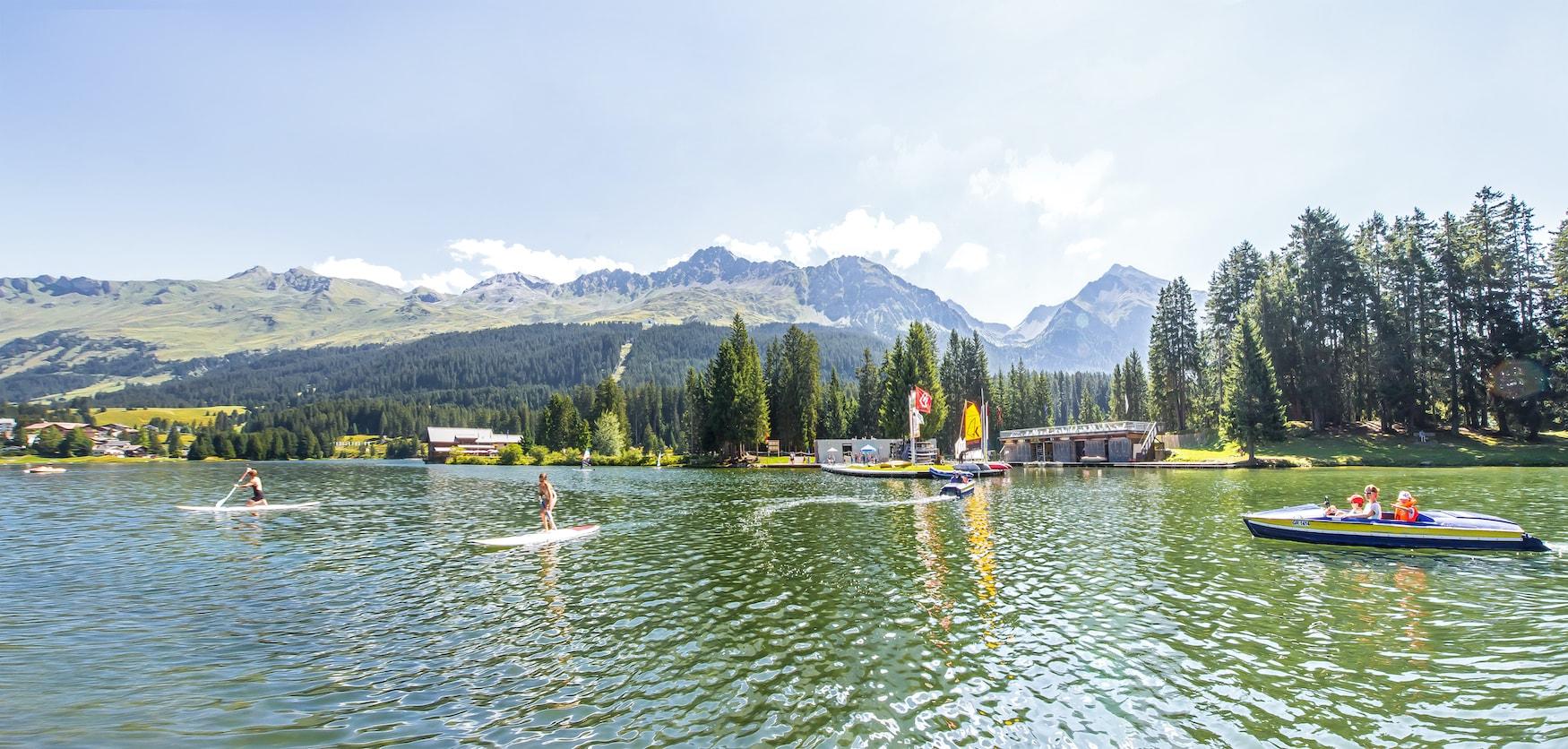Wassersportcentrum am Heidsee in der Schweiz