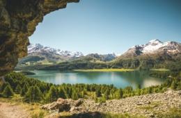 Frühsommer am Silsersee in Graubünden