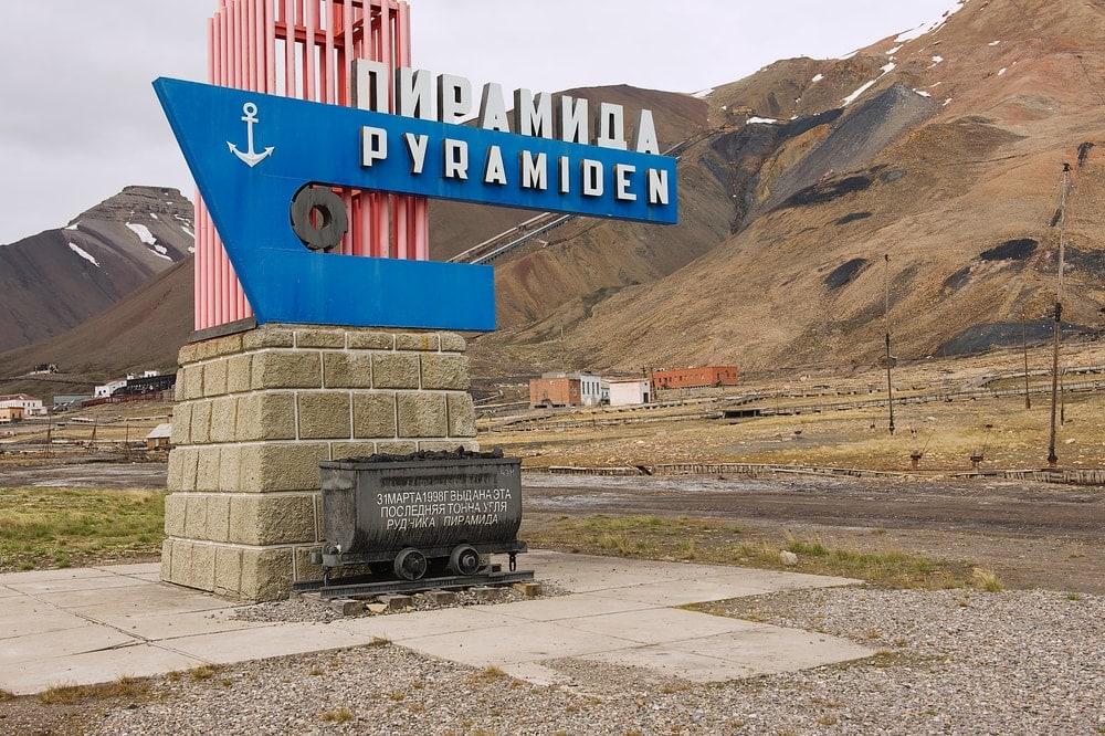 Pyramiden auf Spitzbergen