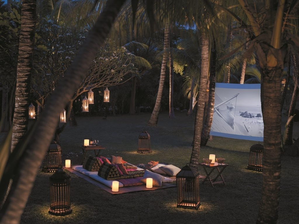 Freiluft-Kinoabende im Shangri-La auf Mauritius