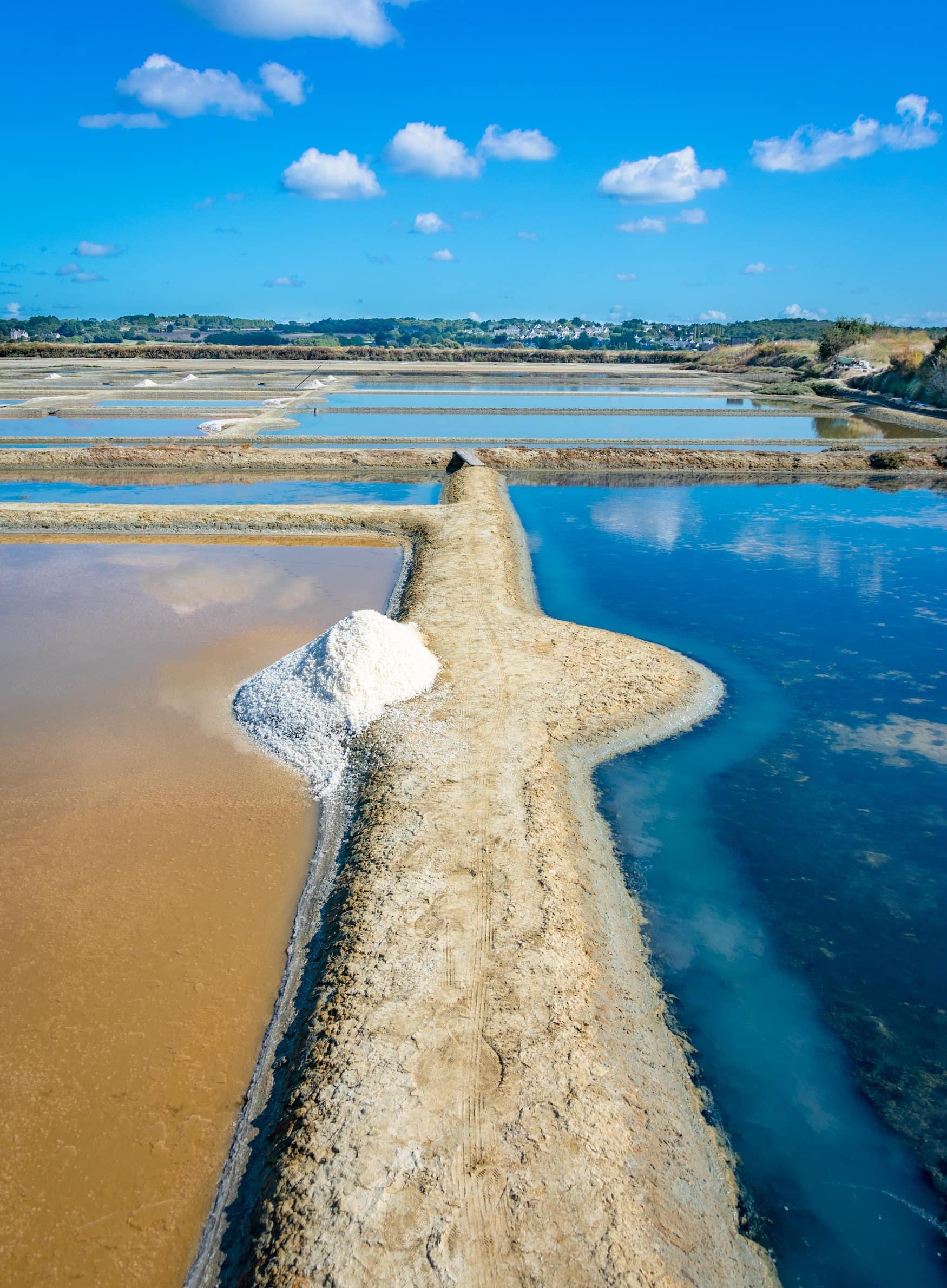 Salzbecken von Guérande in Frankreich