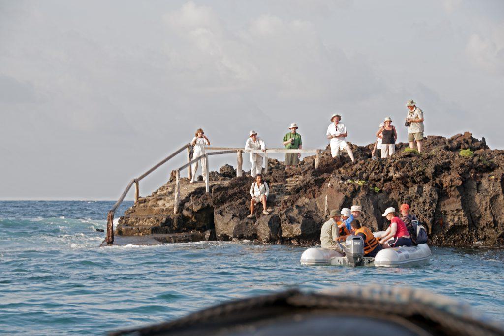 Anlanden an Bartolomé Island, Galapagos