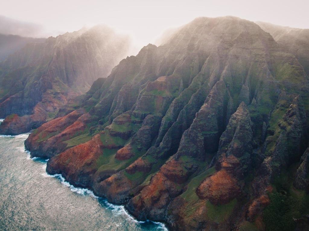Die Na Pali Küste aus dem Helikopter fotografiert