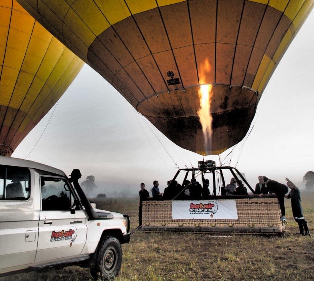 Das Hinterland von oben: Ballon fahren an der Gold Coast