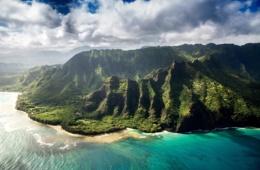Kauai Küste aus dem Helikopter