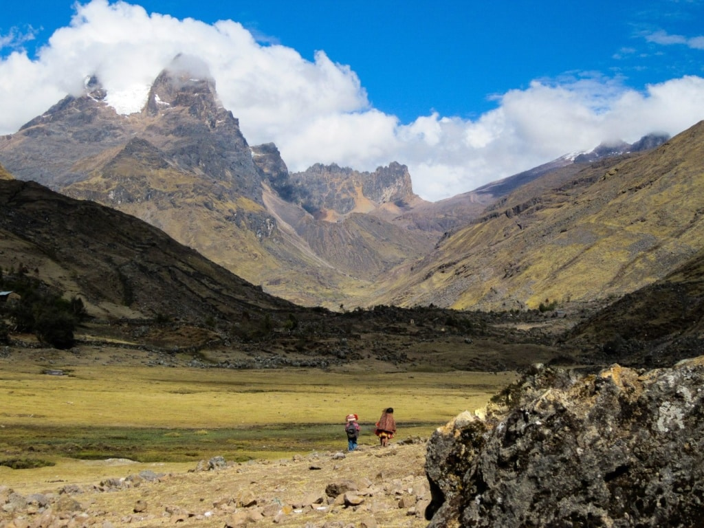 Landschaft Lares Trek in Peru