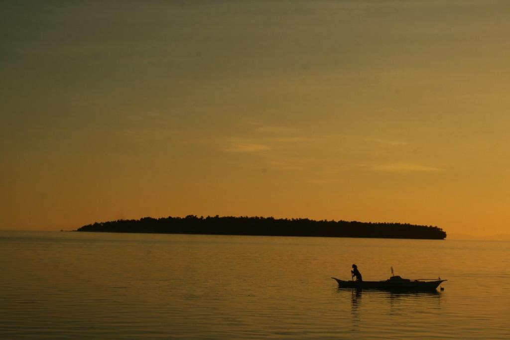 Die Sonnenuntergänge auf den Philippinen gleichen einem Gemälde.