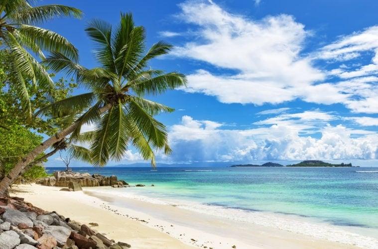 Strand auf den Seychellen