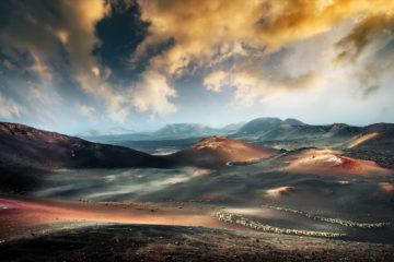 Kanarische Inseln: Blick auf den Timanfaya National Park in Lanzarote