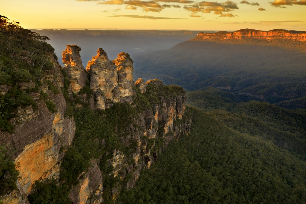 Gipfel Australien: Three Sisters in Blue Mountains