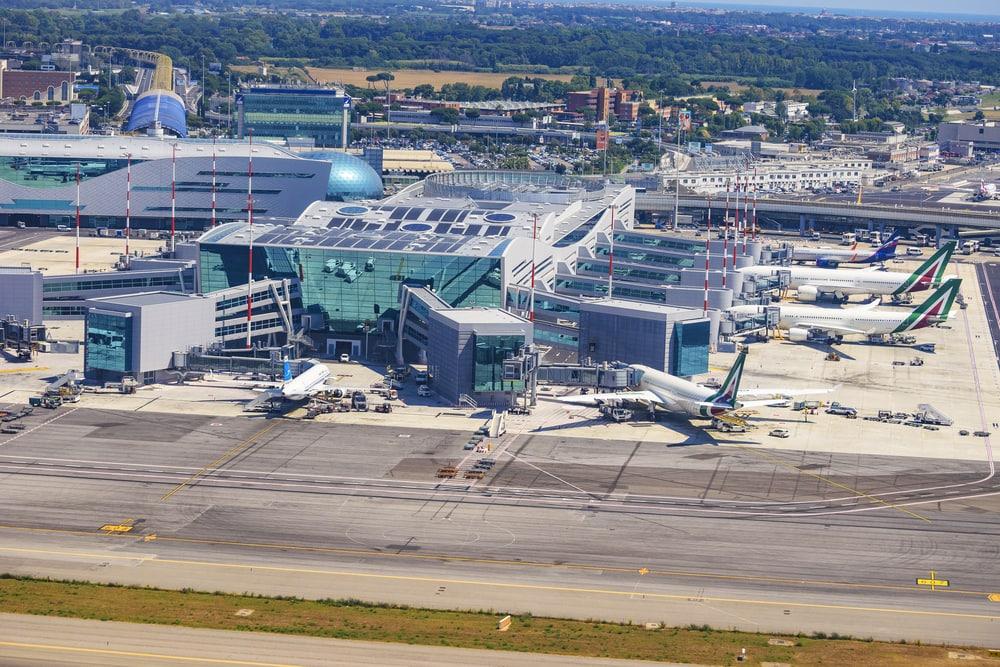 Flughafen Rom aus der Vogelperspektive