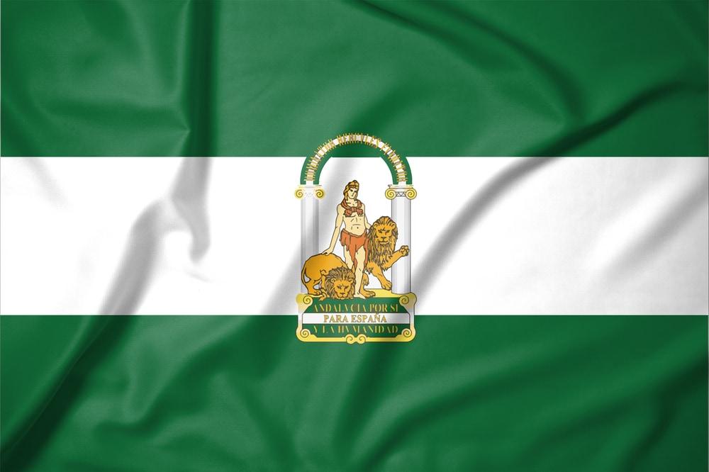 Flagge von Andalusien