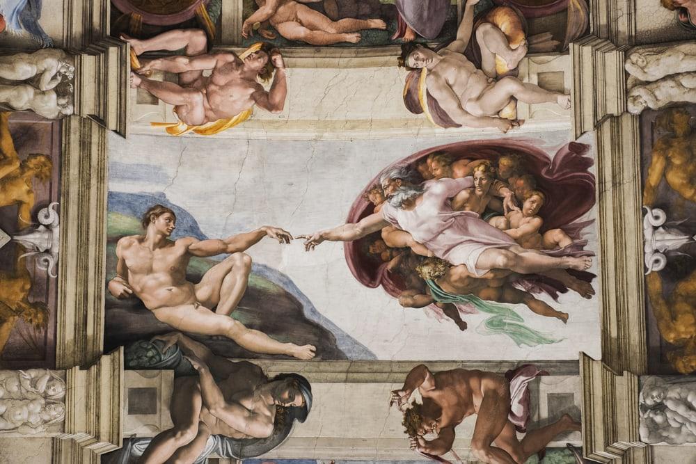 Fresko Die Erschaffung Adams