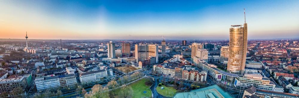 Skyline von Essen in NRW