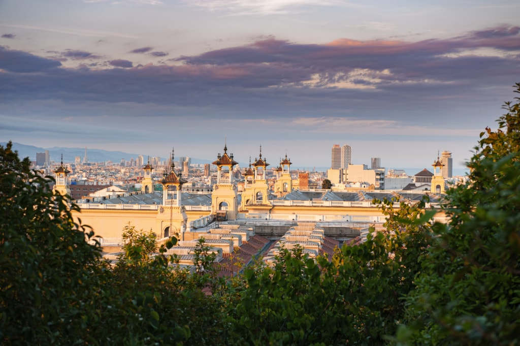 Blick auf Barcelona vom Montjuic-Berg