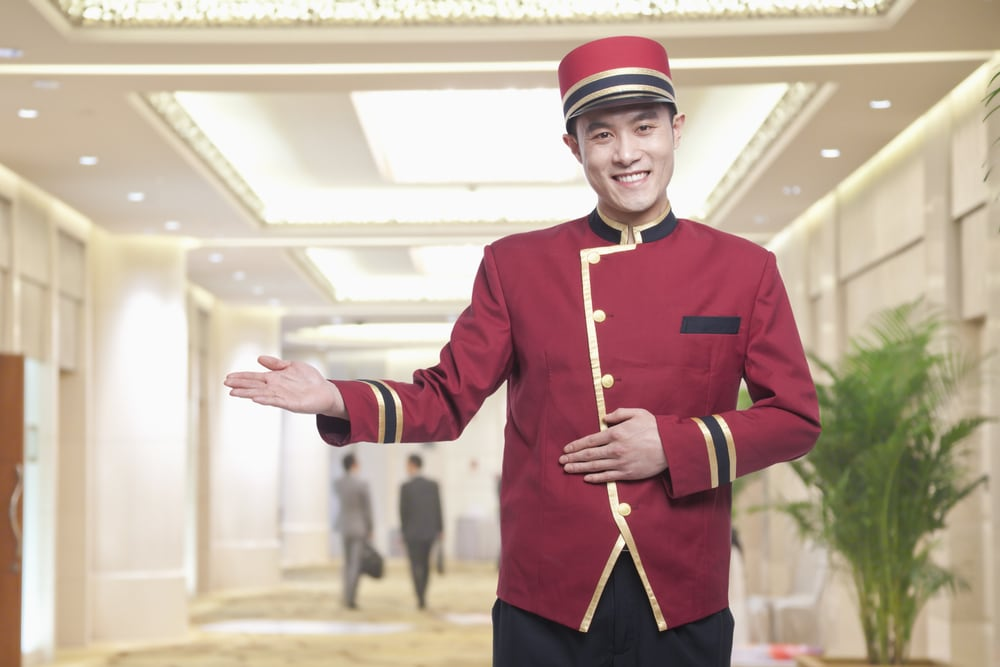 Hotelpage in China