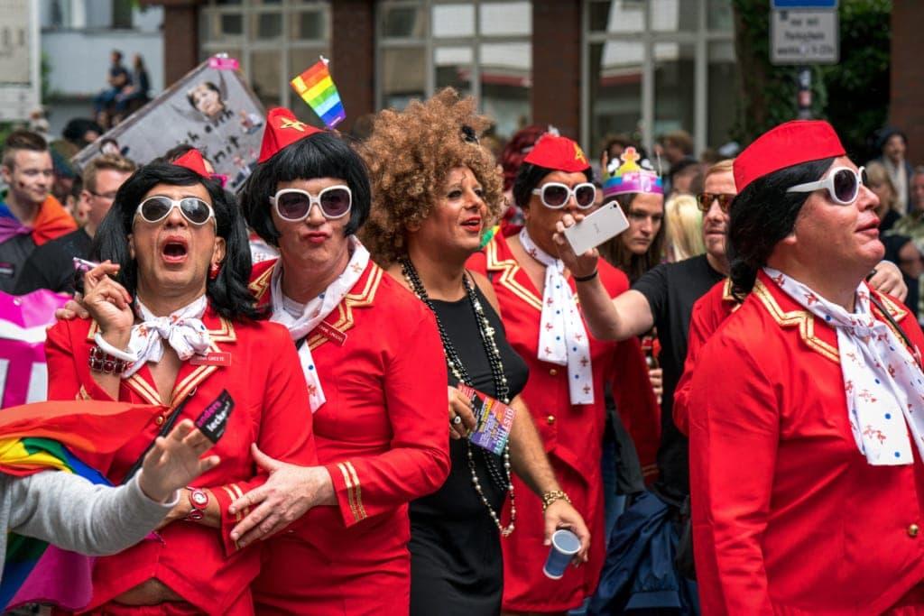 Teilnehmer an der CSD-Parade in Köln