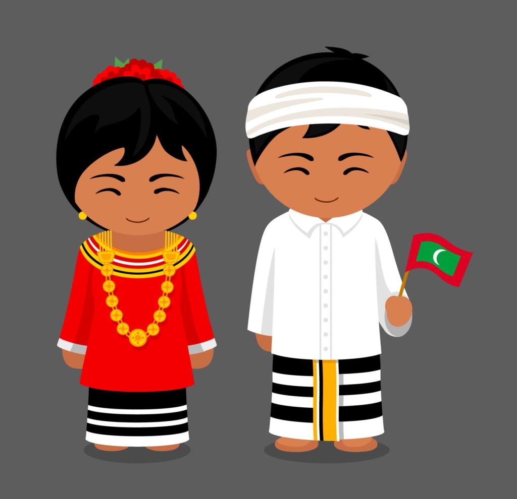 Maldiven-Comicfiguren