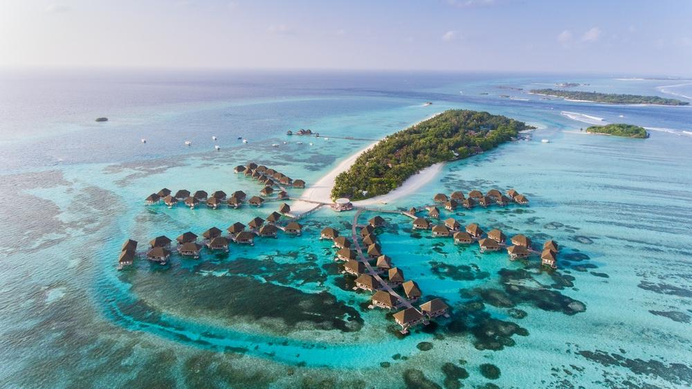 Malediven aus der Vogelperspektive