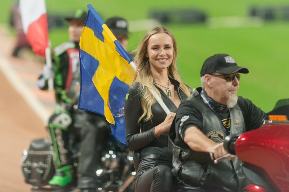 Motorradfahrer in Schweden