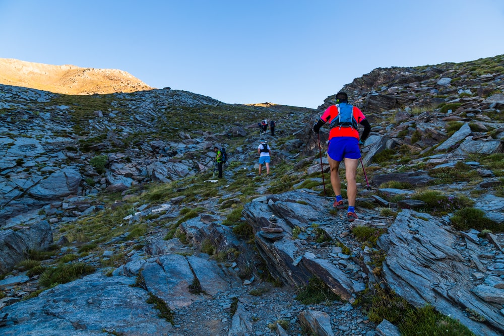 Wanderern auf dem Mulhacen in Andalusien
