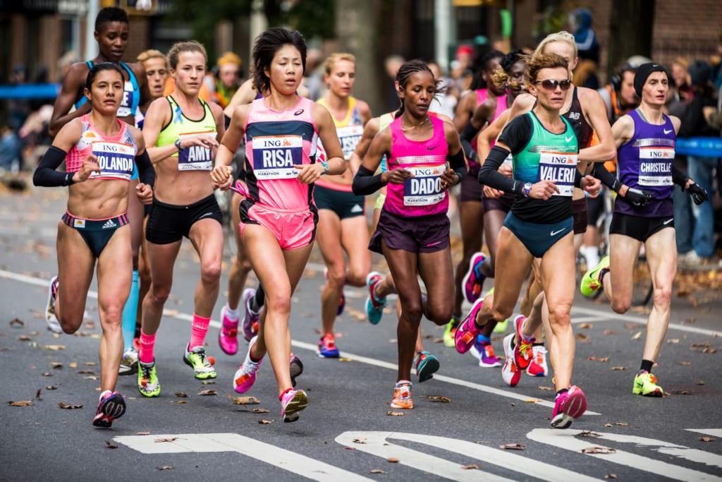 Teilnehmerinnen des New York Marathons