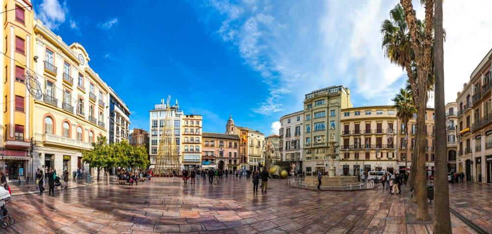 Plaza de la Constitution in Malaga