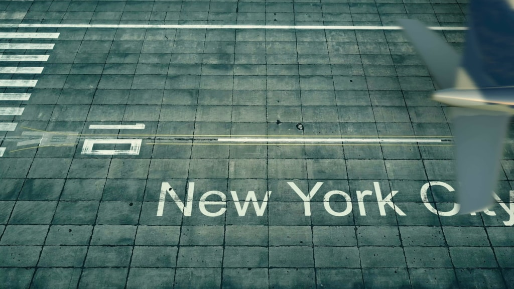 Rollfeld am Flughafen New York
