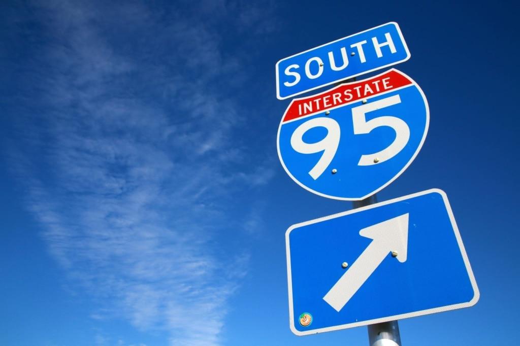 Schild Interstate 95 USA