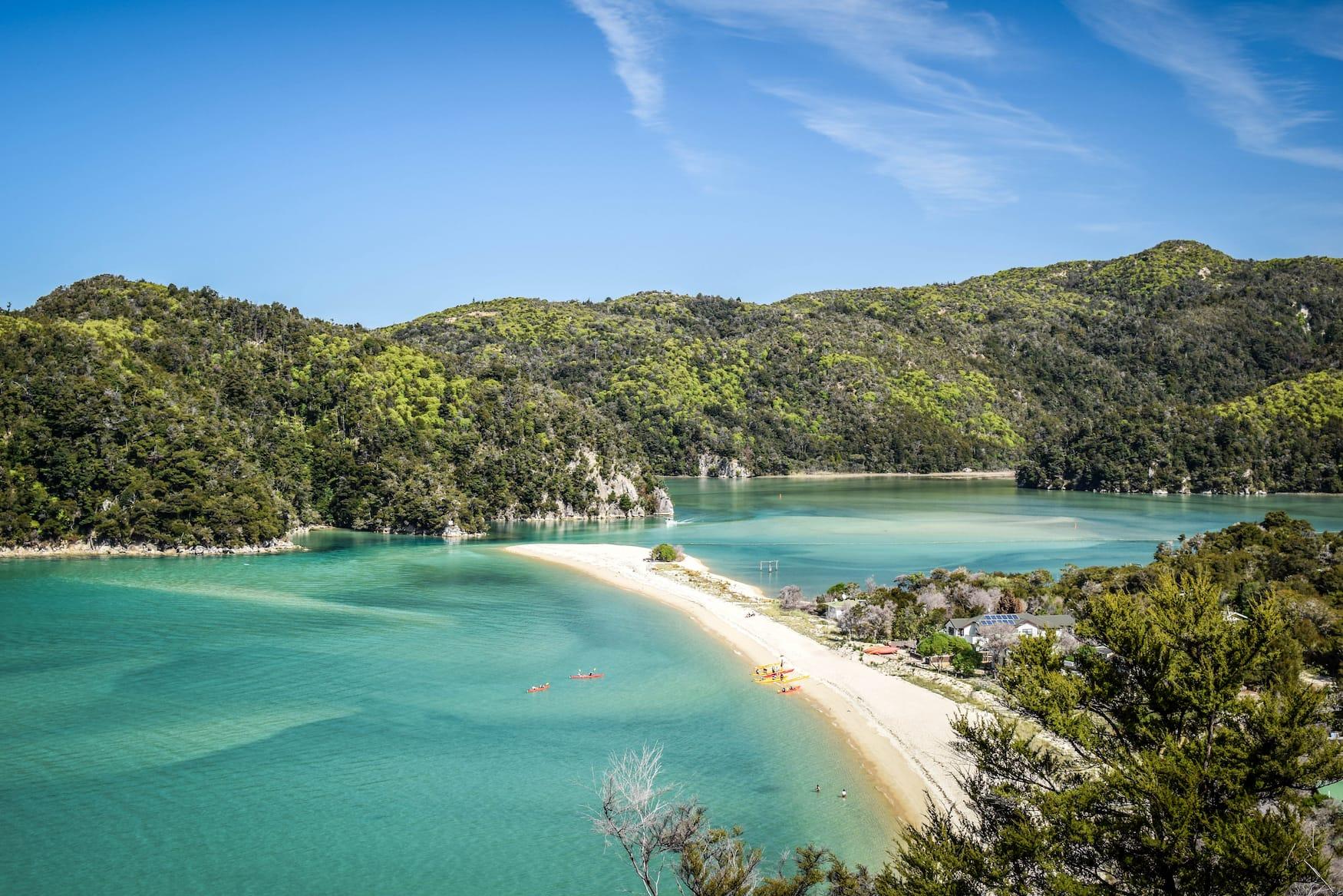 Küste in Neuseeland im Abel Tasman Nationalpark