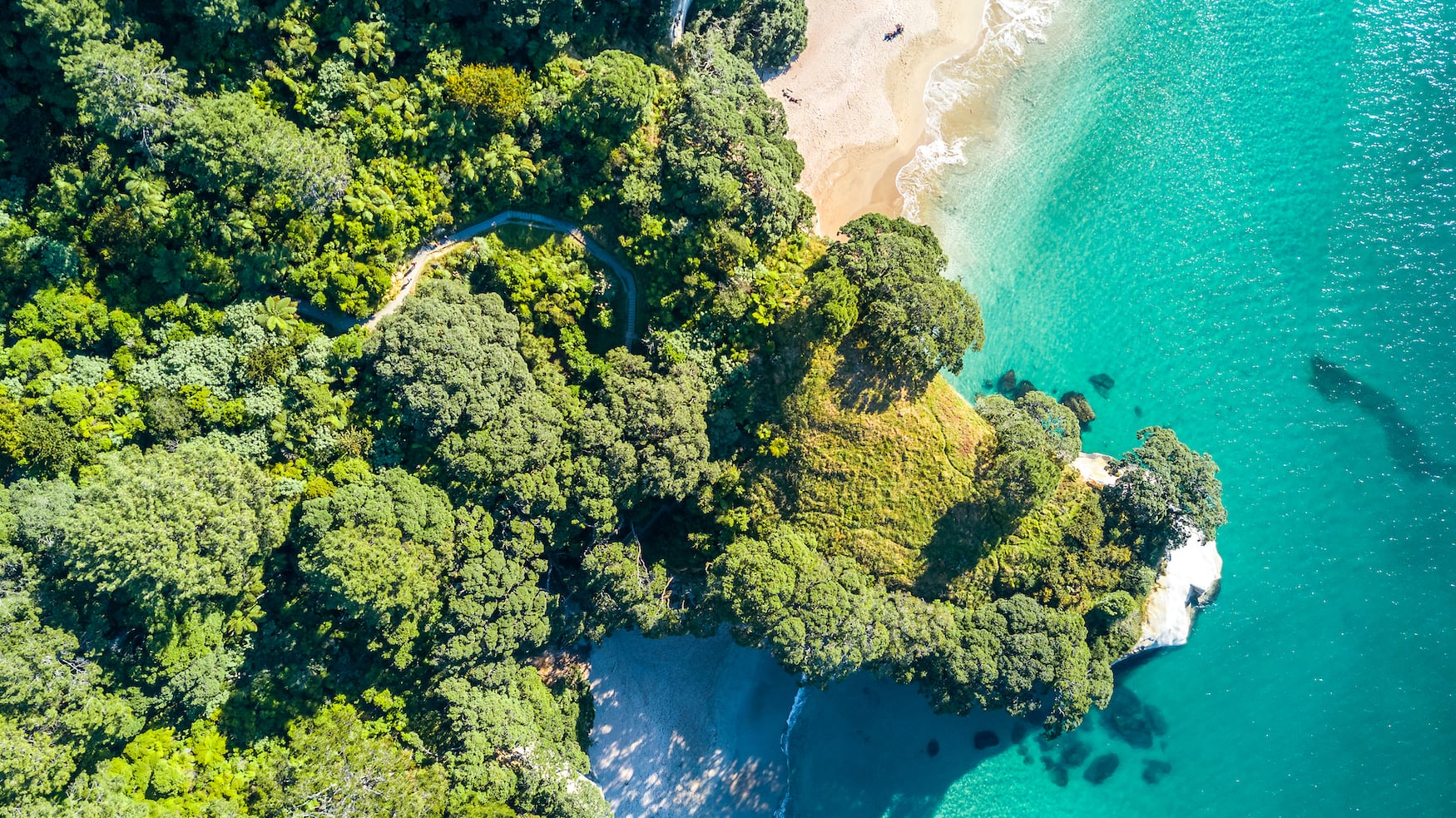 Drohnenansicht der Küste in Neuseeland