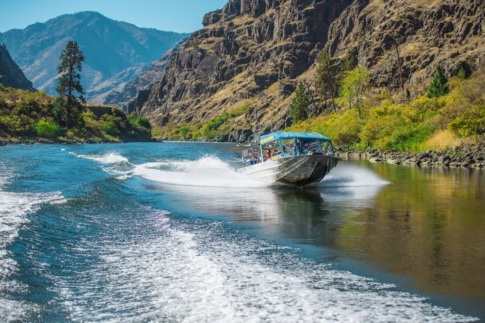 Jet Boating im Hells Canyon in Idaho