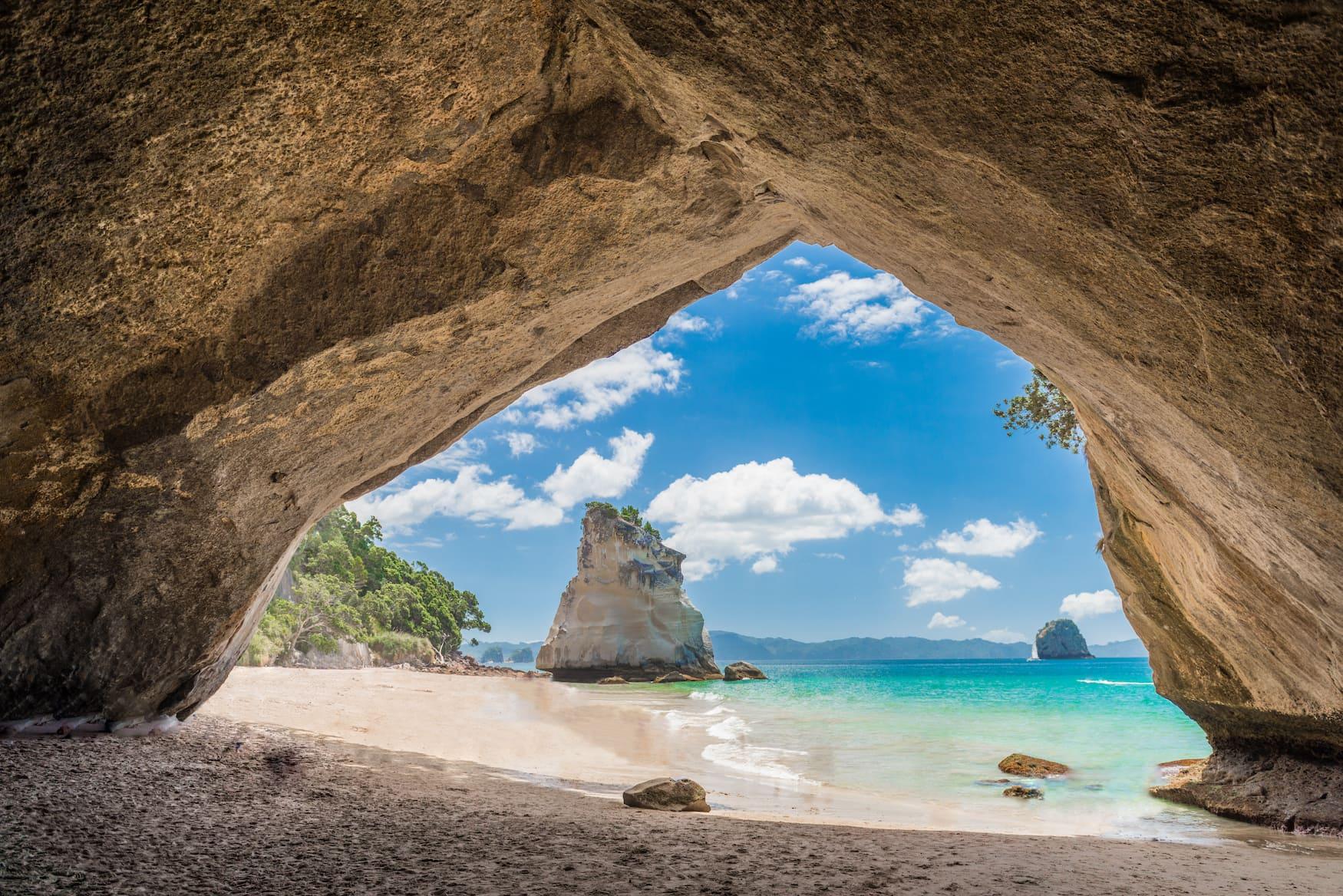 Kathedral-Höhle auf der Coromandel-Halbinsel auf der Nordinsel Neuseelands