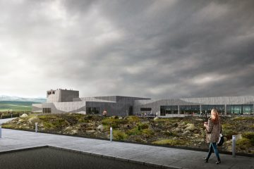 Rendering-Illustration vom neuen Lava Volcano & Earthquake Centre