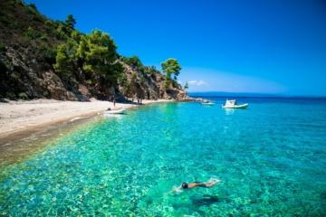 Strand in der Chalkidiki, Griechenland