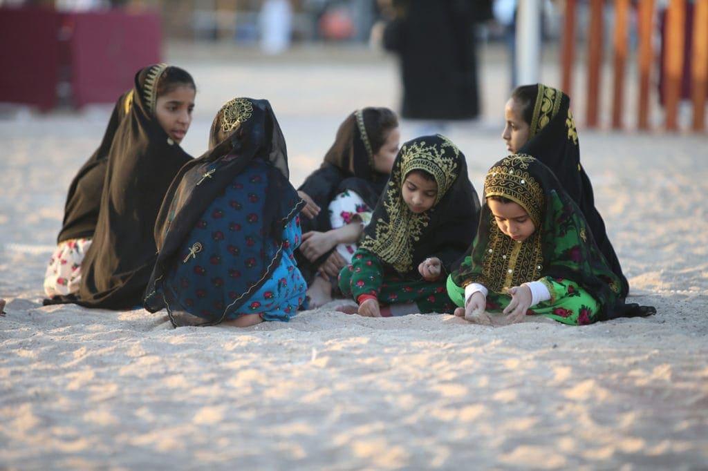 Junge Mädchen in Katar