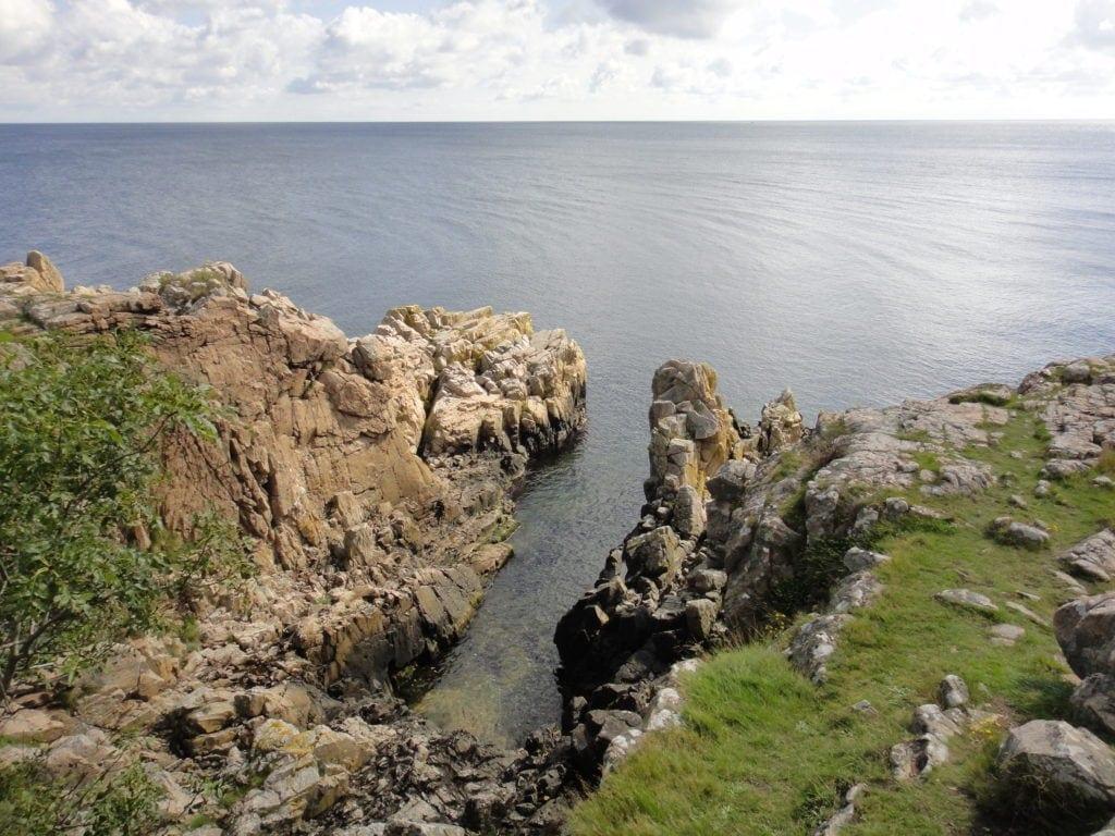 Felsen-Küste auf Bornholm